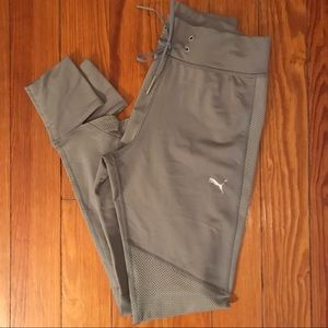 Women's Puma Mesh Athletic Leggings Size Small